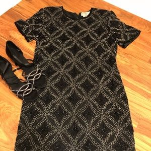 💥Vintage Pappel Beaded Dress size 10💥
